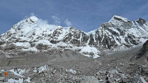 Der Khumbu-Gletscher am Mount Everest