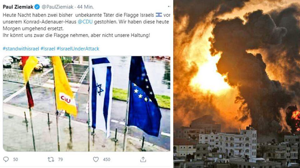 News von heute: Nach geklauter Israel-Flagge vor Konrad-Adenauer-Haus: CDU hängt neue auf