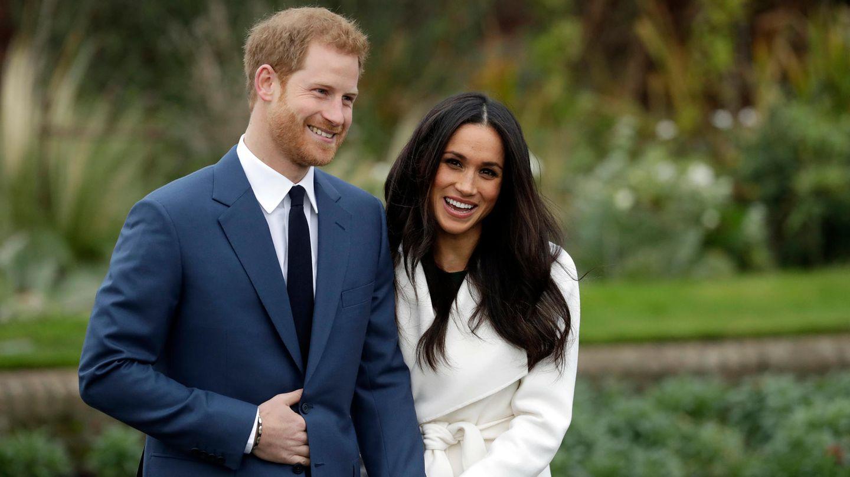 Prinz Harry und Meghan Markle bei der Bekanntgabe ihrer Verlobung im November 2017