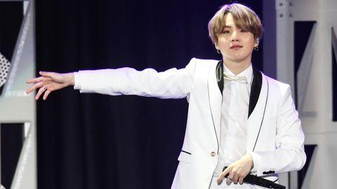 BTS-Rapper Suga auf der Bühne