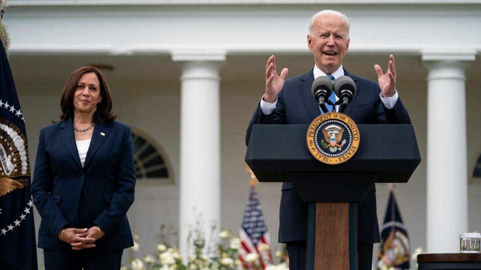 Joe Biden, US-Präsident, spricht über aktualisierte Richtlinien für Maskenmandate