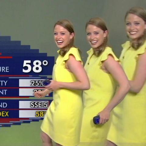 Verzerrtes Bild beim Wetterbericht: Während Live-Übertragung: TV-Moderatorin sorgt für Lacher, als Technik verrückt spielt