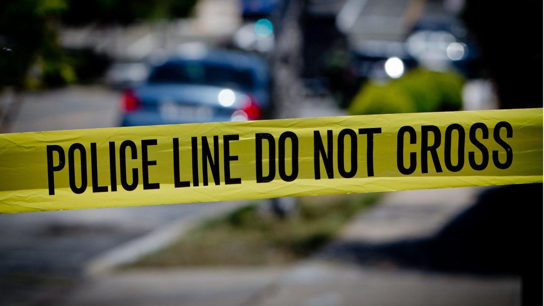 Ein Polizeiabsperrband in den USA