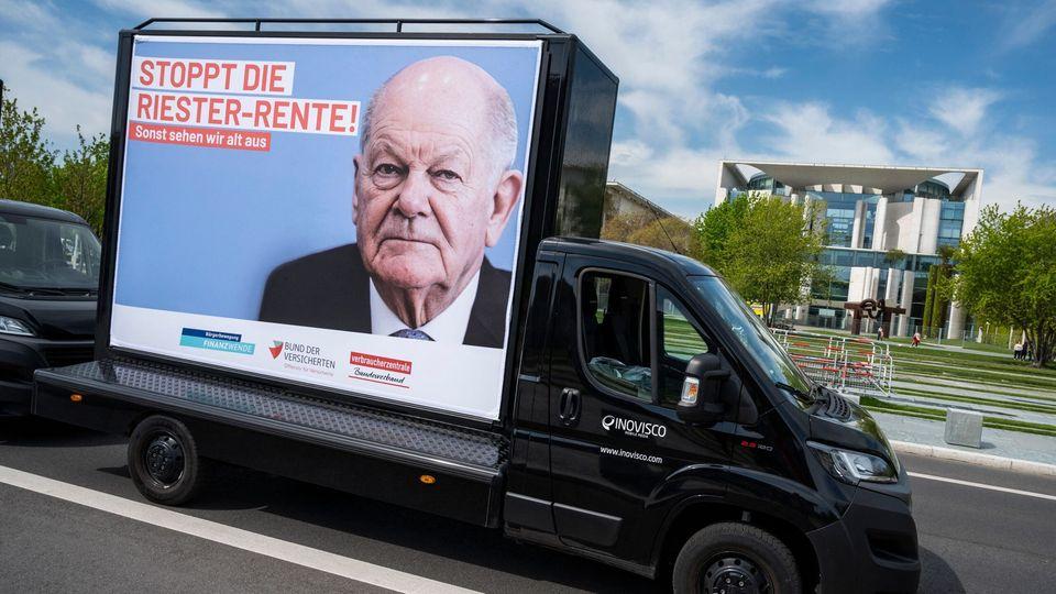 Protest gegen die Riester-Rente