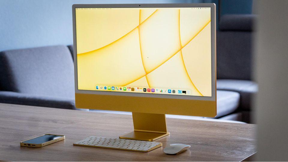 Bunt und wahnsinnig schnell: Apples iMac im Test: Der Post-Pandemie-Computer