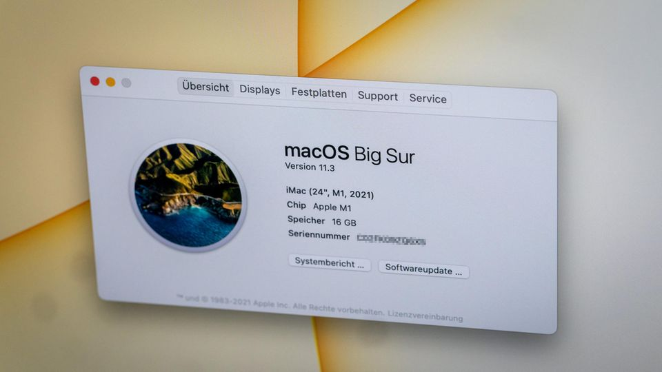 Angetrieben wird der neue iMac vom M1-Chip.