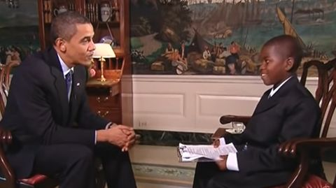 Damon Weaver interviewt Barack Obama