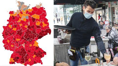 Deutschlandkarte zeigt, in welchen Regionen die Corona-Inzidenz besonders gut ist.