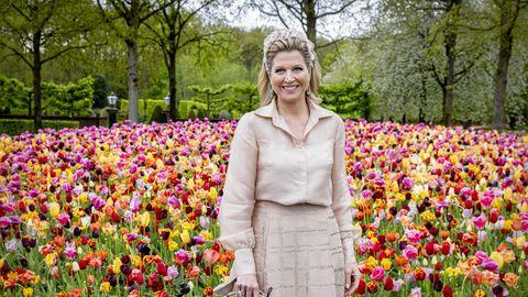 Königin Máxima besucht Keukenhof. Anlässlich ihres 50. Geburtstages gewährt sie private Einblicke in ihre Vergangenheit.