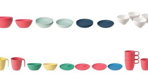 Buntes Geschirr der Marke Ikea