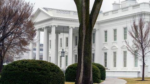 Blick auf die Auffahrt zum Weißen Haus