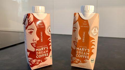 Mary's Dream Coffee: Auf der Verpackung des Kaffeedrinks ist ein weibliches Gesicht zu sehen.