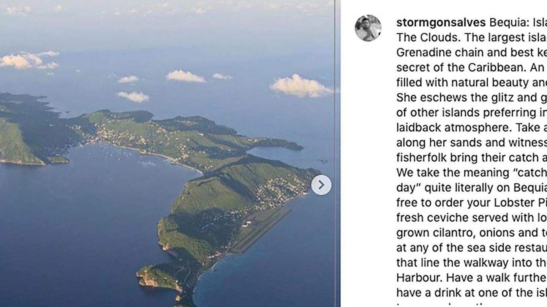 Die Insel Bequia aus der Vogelperspektive