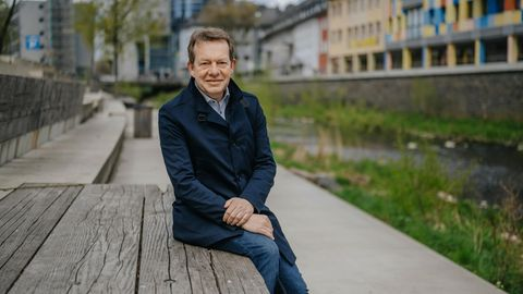 Bürgermeister Steffen Mues, 56, setzte die Umbaupläne auch gegen Widerstände durch