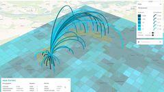 Die Simulation zeigt die Nutzung des Radschnellweges bei einem konreten Streckenverkauf an.