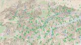 Hier werden die Bewegungen der Mietfahrräder in London visualisiert.