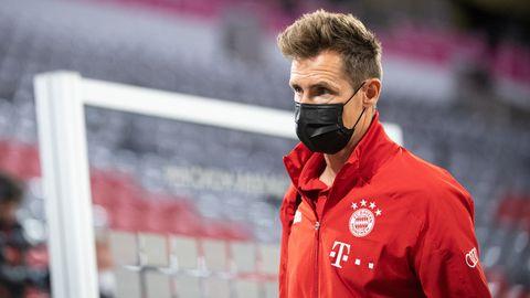 Miroslav Klose bei einem Bundesligaspiel der Bayern.