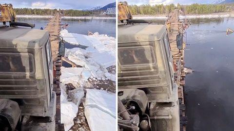 """""""Vitim River Bridge"""" – die """"gefährlichste Brücke der Welt"""""""