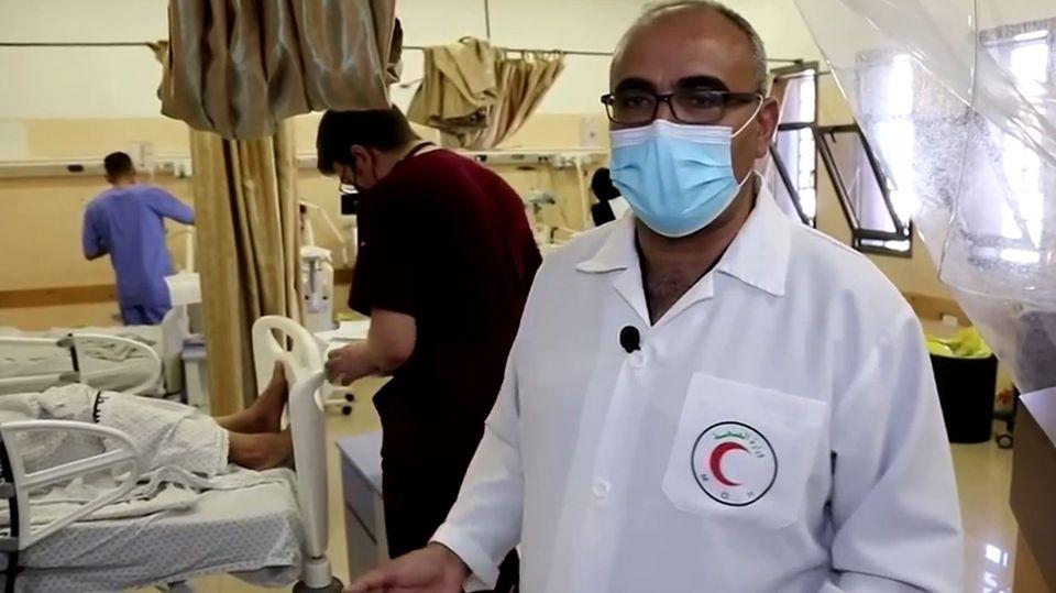Marwan Abu Sada, Chef der Chirurgie desShifa-Krankenhaus in Gaza-Stadt