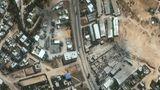 Satellitenaufnahme aus dem Gaza-Streifen.