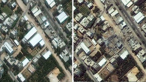 Satellitenaufnahmen aus dem Gaza-Streifen