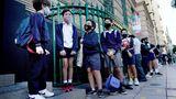 Schulkinder in Buenos Aires