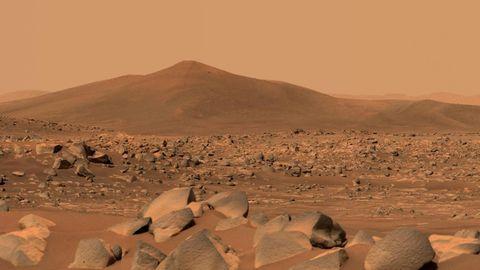 Blick auf den Hügel Santa Cruz auf dem Mars