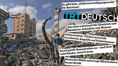 """Schlagzeilen von """"TRT Deutsch"""" zum Nahostkonflikt"""