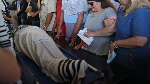 Die Beerdigung von Yigal Yehoshua am Dienstag in der Stadt Modiin