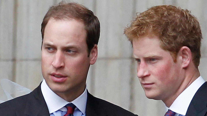 Die Prinzen William (l.) und Harry