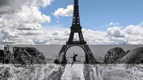 Schlucht unterm Eiffelturm? Optische Täuschung fasziniert Bürger von Paris
