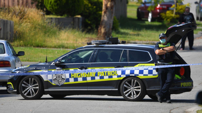 Polizeiauto in Melbourne.