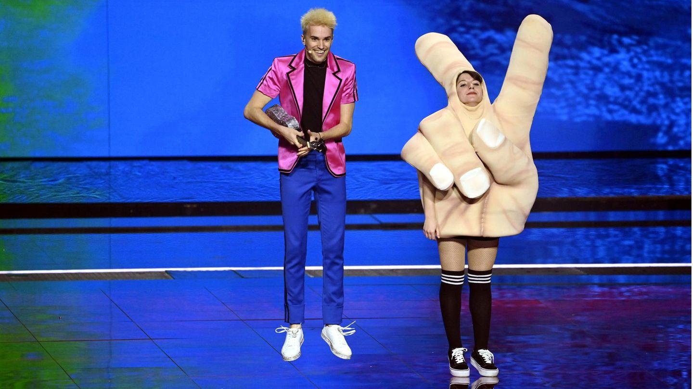 Der deutsche Kandidat Jendrik beim Eurovision Song Contest in Rotterdam