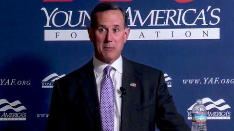 Rick Santorum beim Event der Young America's Foundation