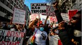 "Eine ""Black Lives matter""-Demonstration in Lissabon, Portugal"