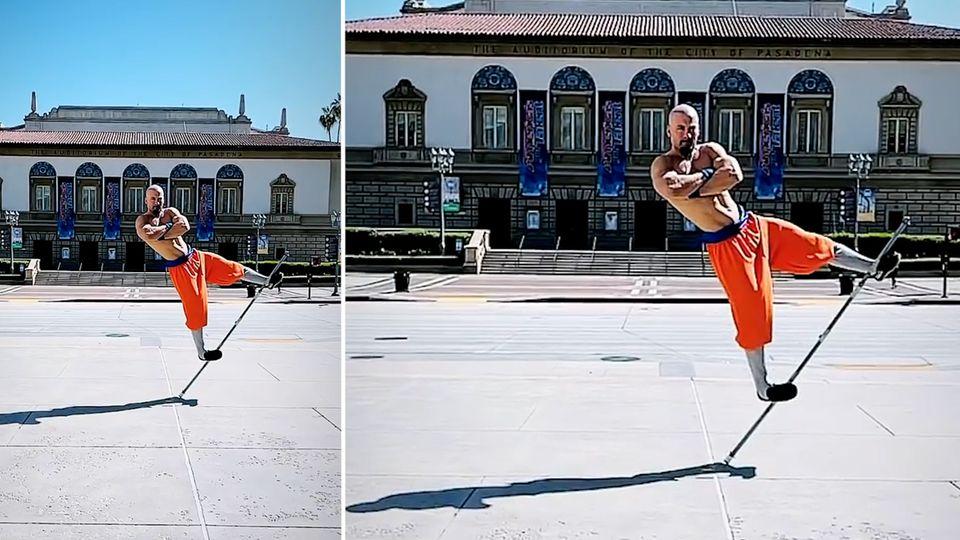 """""""Moderner Shaolin"""" trotzt der Schwerkraft"""