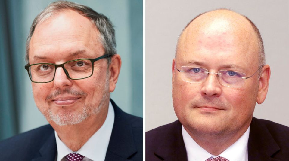 Bundeswahlleiter Georg Thiel und Arne Schönbohm, der Präsident des Bundesamtes für Sicherheit in der Informationstechnik.