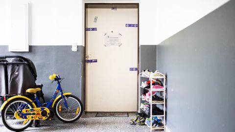 Hinter dieser Tür lebte Christiane K. mit ihren sechs Kindern – zuletzt ohne Ehemann Martin