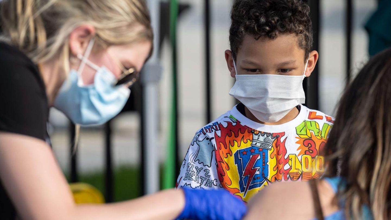 Coronavirus-Impfung eines Kindes in den USA