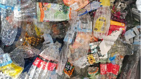 Zerdrückte Pfandflaschen
