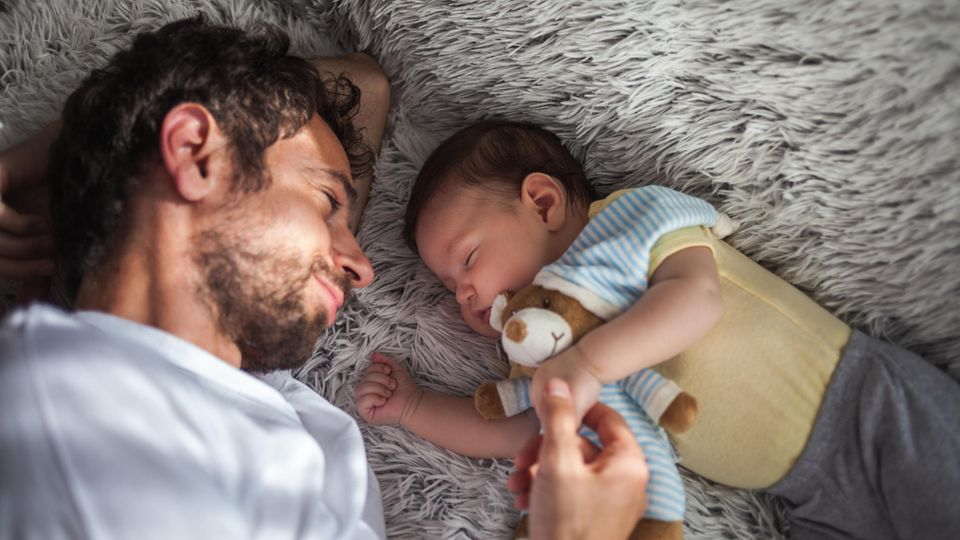 Auch werdende Väter werden gerne beschenkt