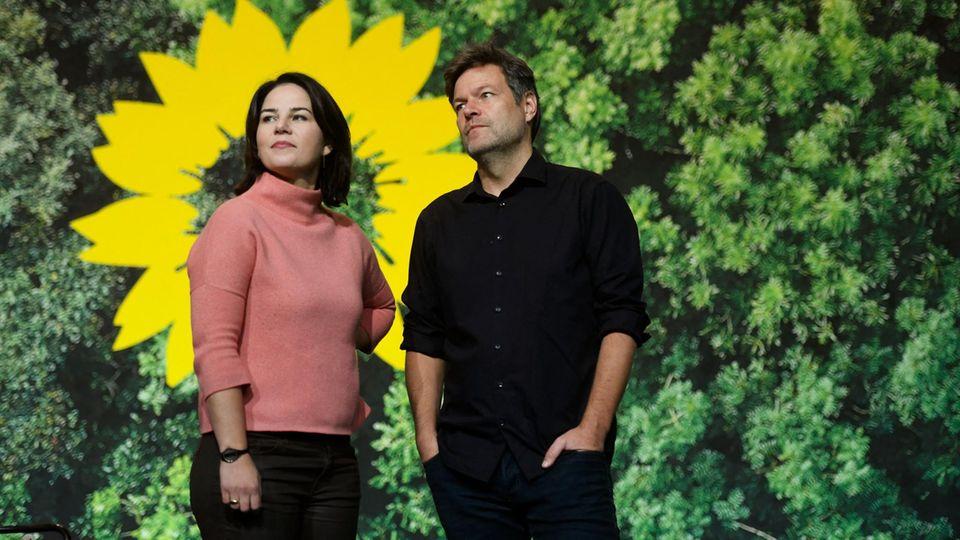 Annalena Baerbock und Robert Habeck, die Bundesvorsitzenden von Bündnis 90/Die Grünen