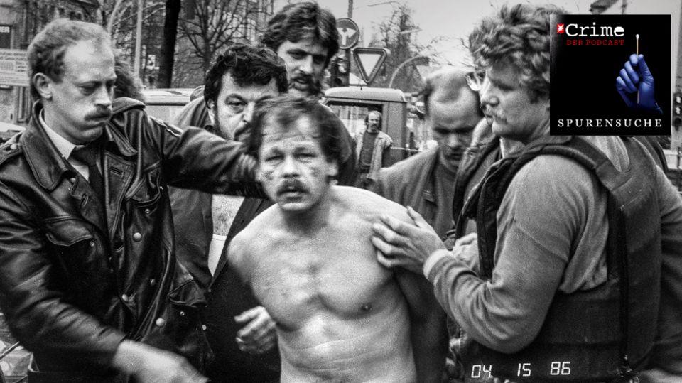"""Werner """"Mucki"""" Pinzner, auch bekannt als """"St. Pauli-Killer"""", wird abgeführt"""
