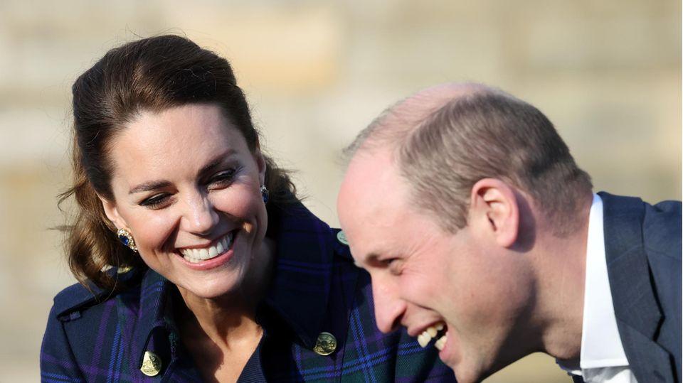 Herzogin Catherine und Prinz William genießen ihre Zeit zusammen in Schottland.