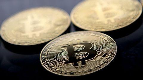 Vergoldete Bitcoin-Souvenir-Münzen