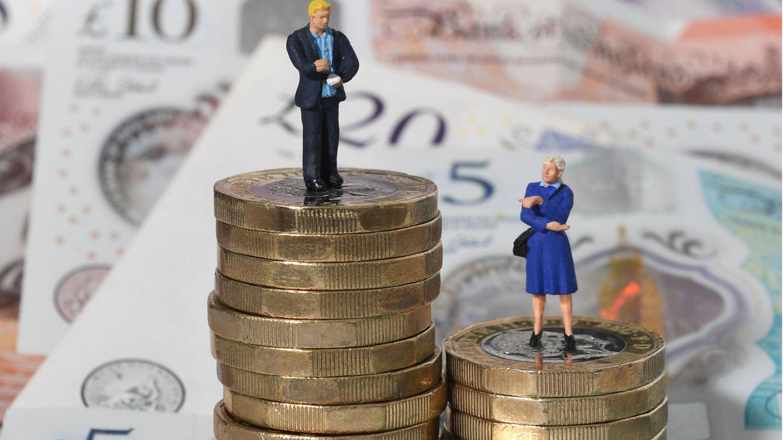 Symbolbild für die ungleiche Bezahlung von Frauen und Männern