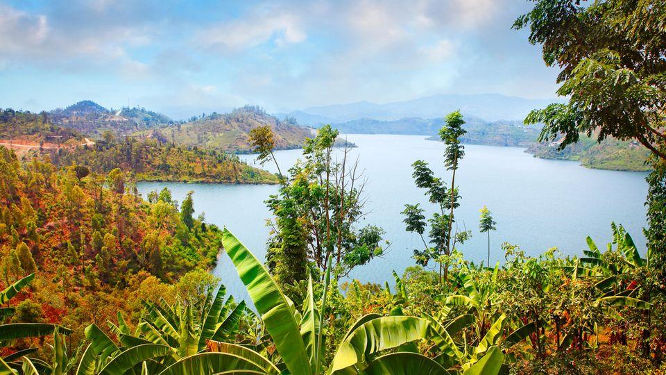 Eine Idylle, in dessen Tiefe der Tod lauert: Der Kivu-See an der Grenze zwischen Ruanda und der Demokratischen Republik Kongo