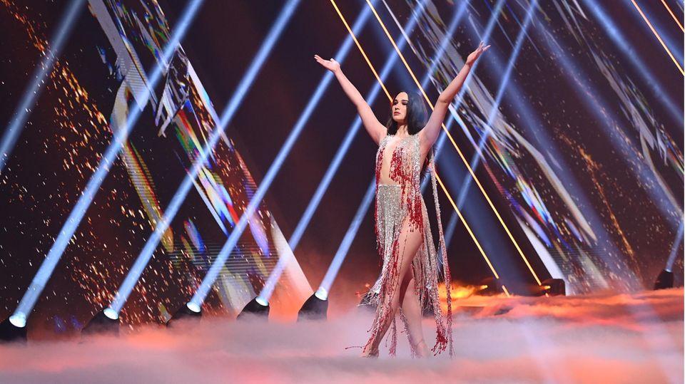 Alex Mariah im GNTM-Finale 2021