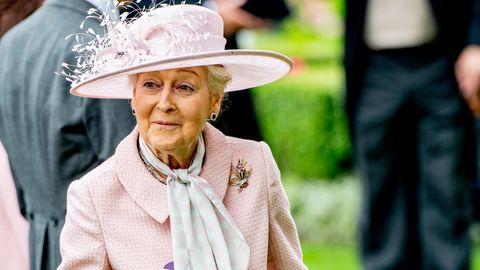 Prinzessin Alexandra bei einem Pferderennen in Ascot.
