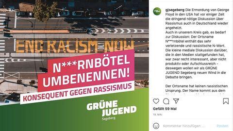 Instagram-Post der grünen Jugend in Bad Segeberg, Schleswig-Holstein